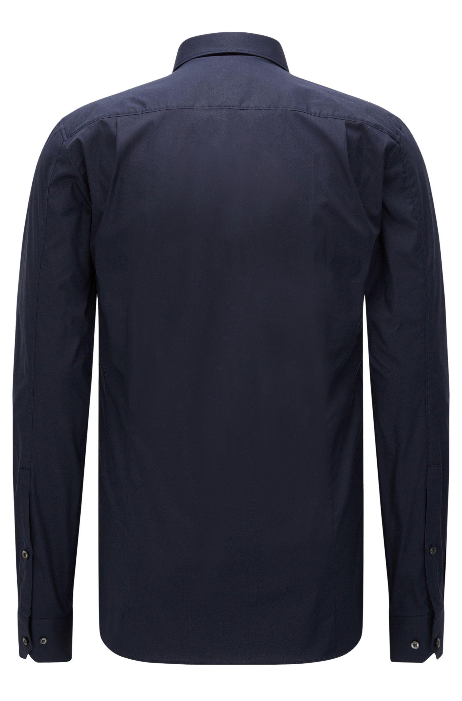 Chemise Extra Slim Fit en coton stretch, Bleu foncé