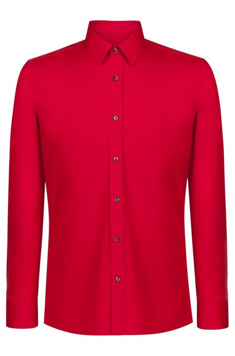 Chemise Extra Slim Fit en coton stretch, Rouge