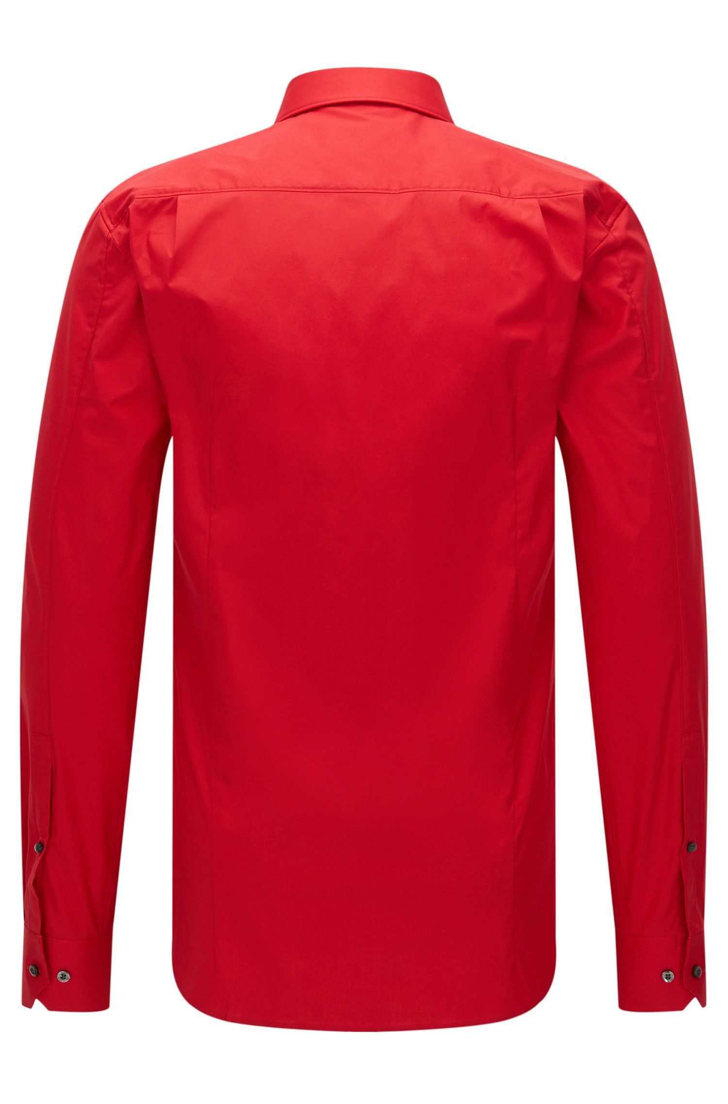 Extra-slim-fit shirt in stretch cotton , Red