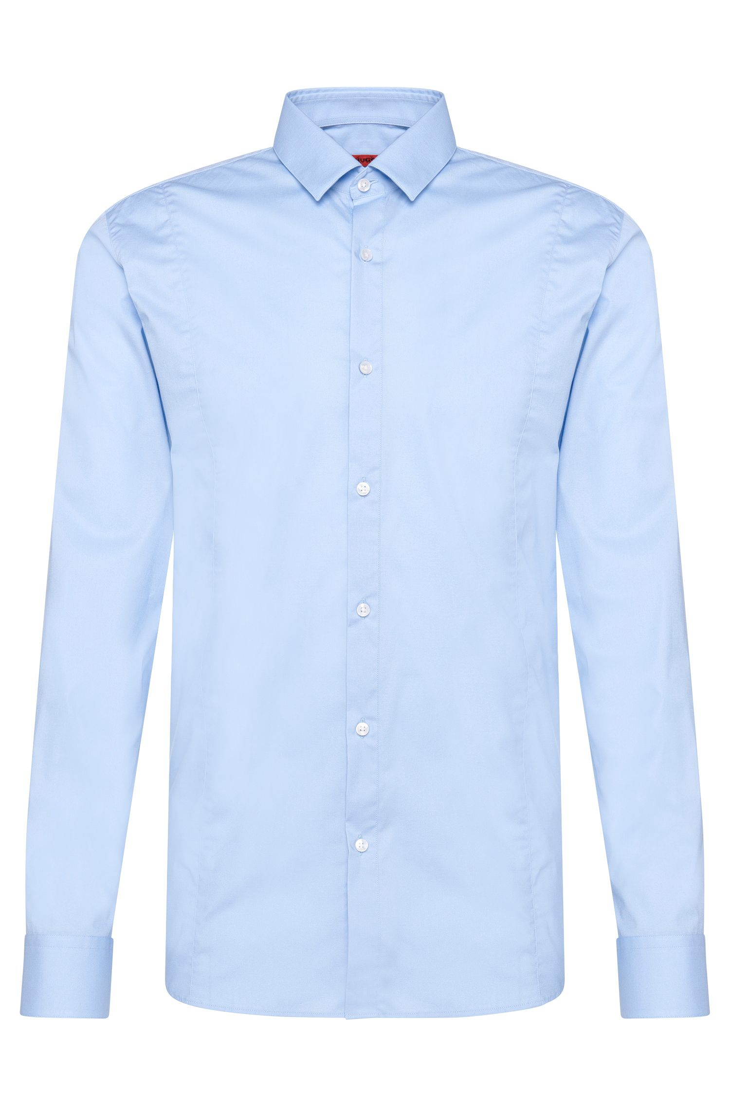 Slim-fit shirt in stretch cotton: 'Etello'