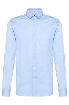 Camisa slim fit en algodón elástico: 'Etello', Celeste