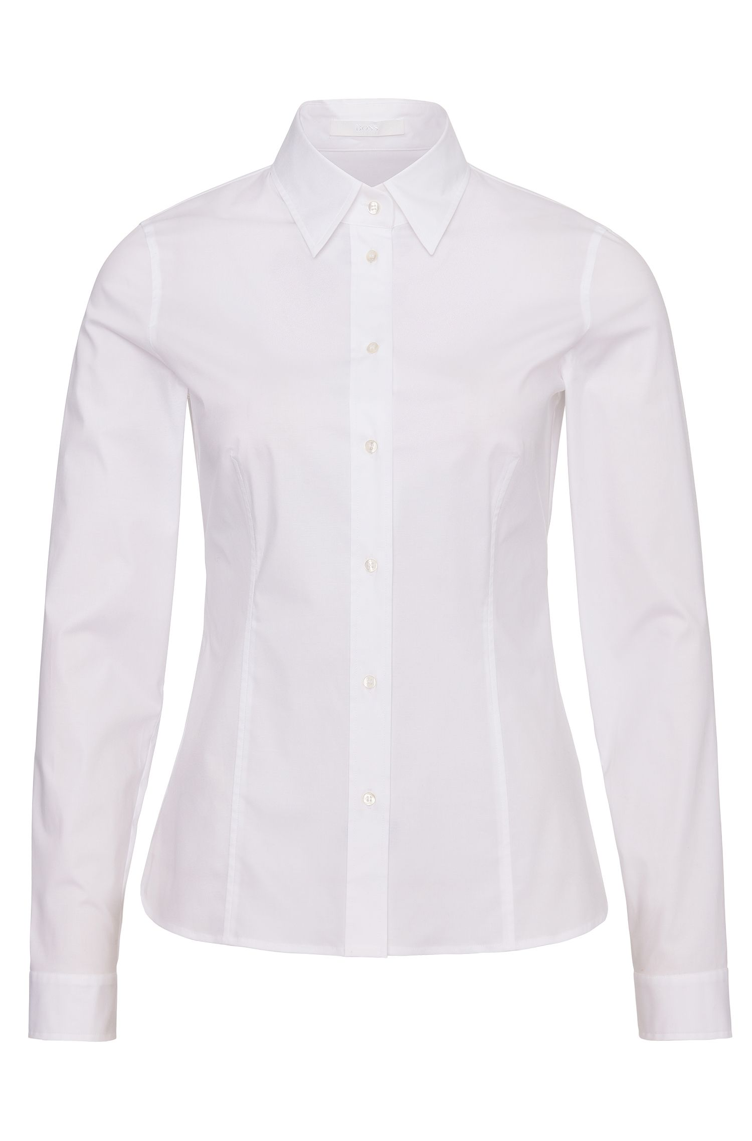 Chemise Slim Fit en coton stretch