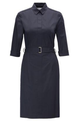 Robe en coton stretch: «Dashiri4», Bleu foncé