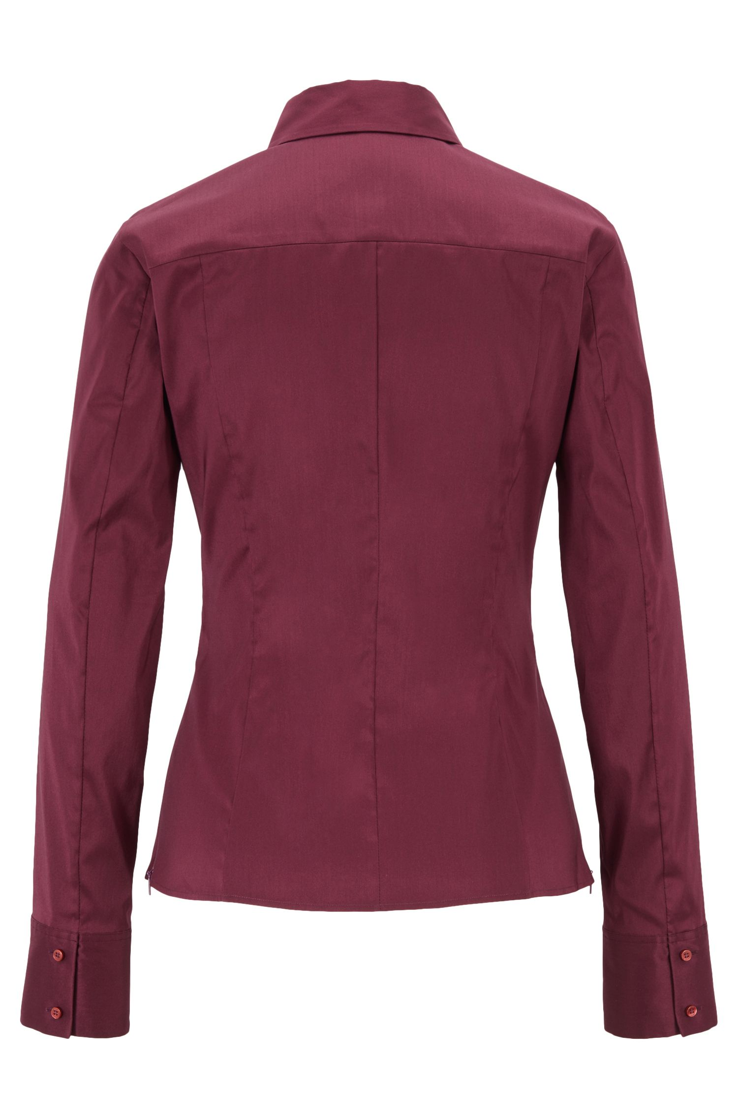 Slim-fit blouse with darted seam detail , Dark pink
