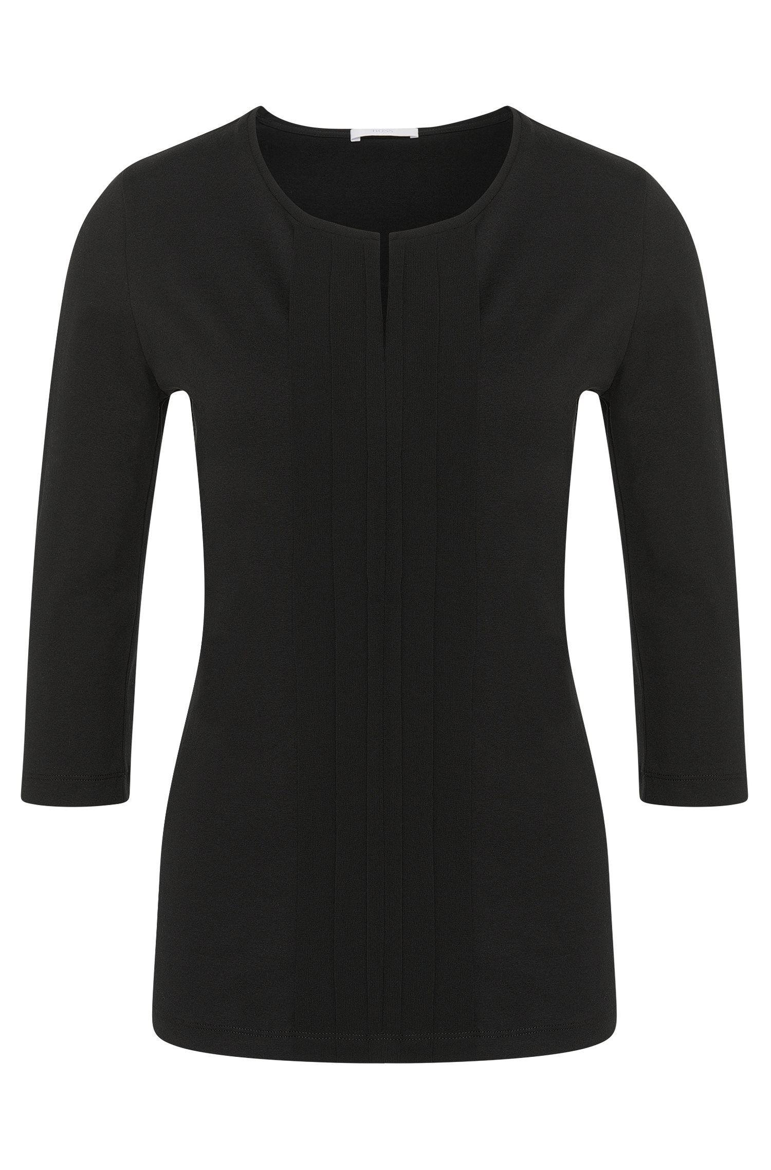 Haut en jersey orné d'un détail plissé