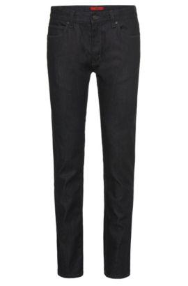 Jeans Slim Fit en coton mélangé: «HUGO 708», Bleu foncé