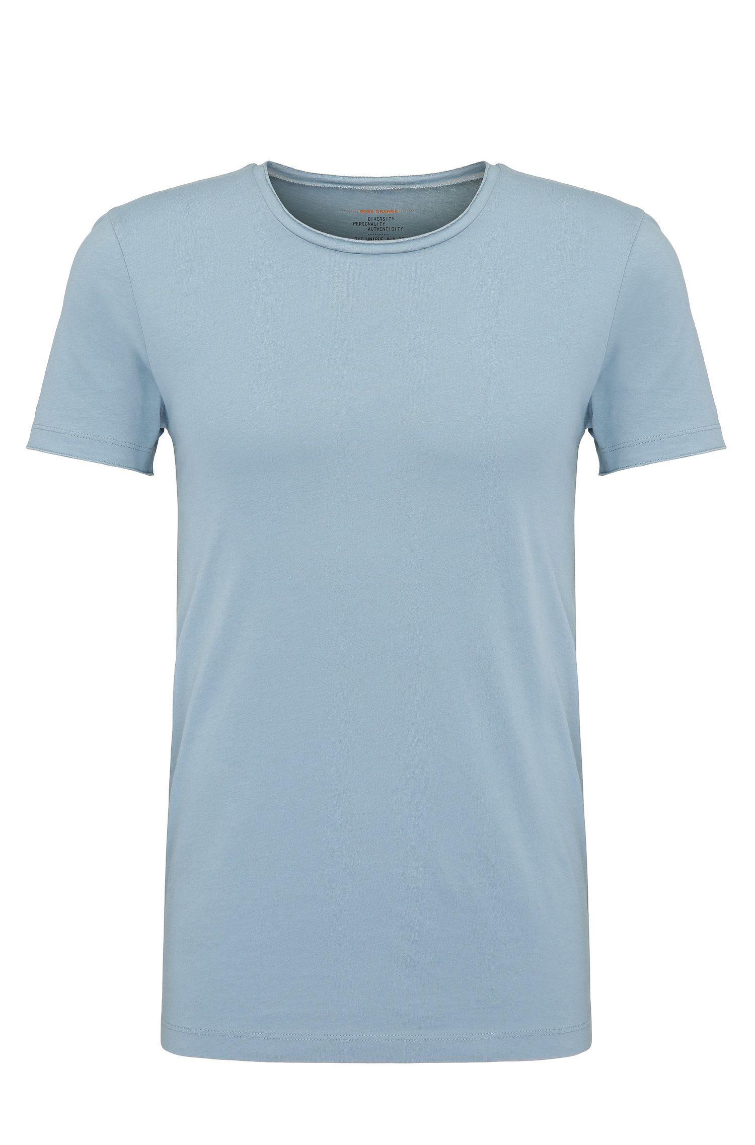 T-shirt Regular Fit avec détail à bord franc