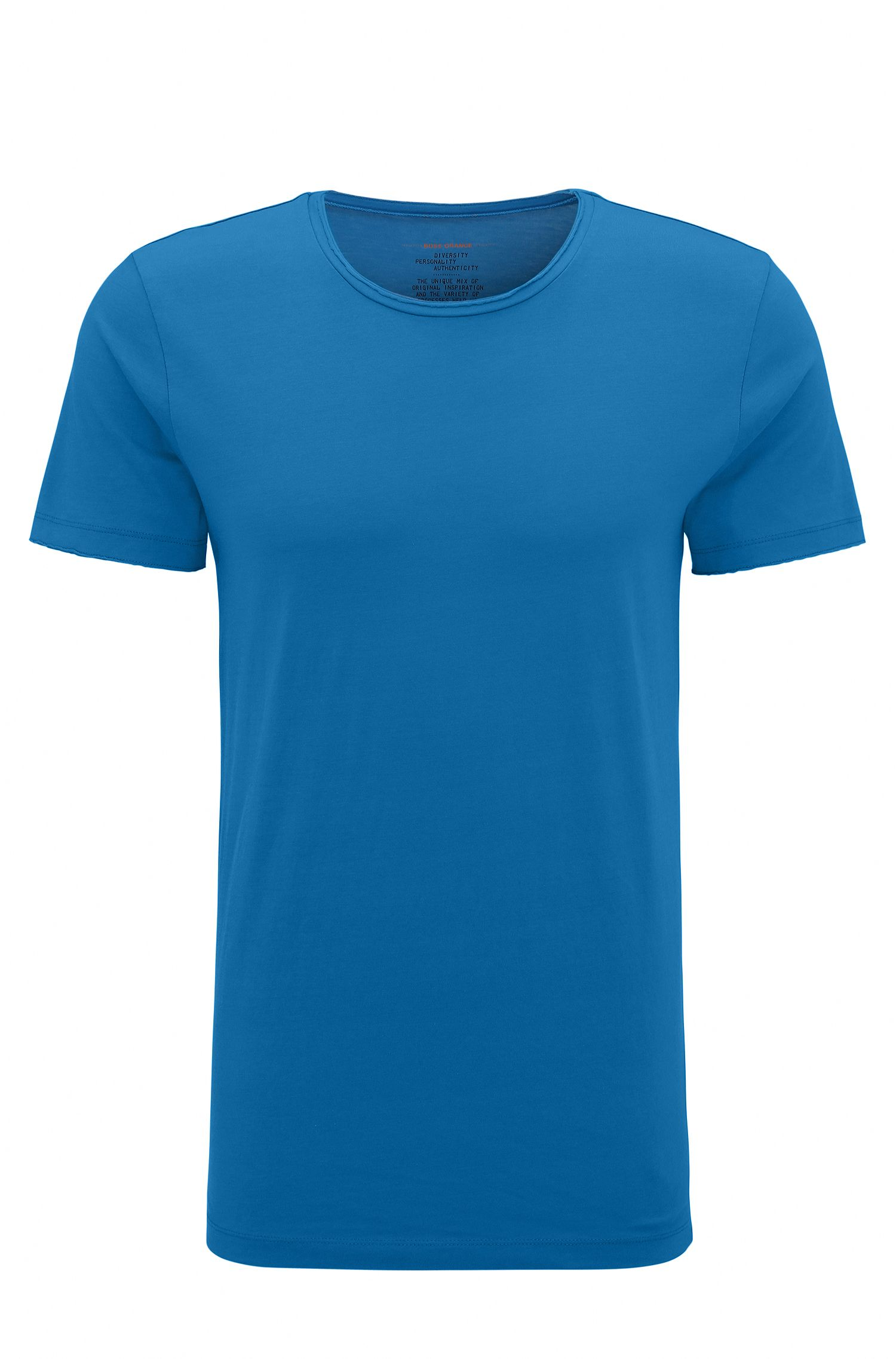 Regular-Fit T-Shirt mit offenen Abschlüssen