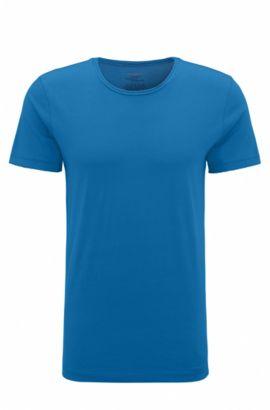 Regular-Fit T-Shirt mit offenen Abschlüssen , Dunkelblau