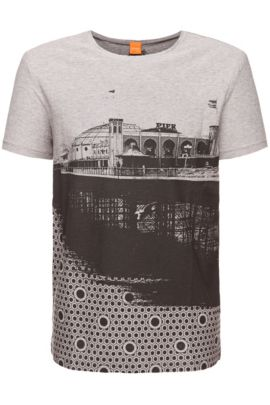 T-shirt «Theroux 2» en coton, Gris chiné
