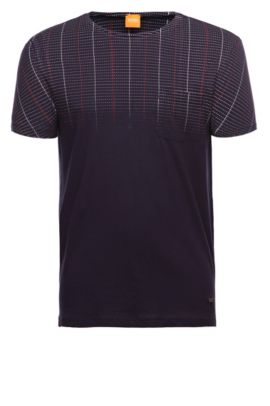 T-shirt «Tibro» en coton, Bleu foncé
