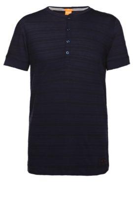 T-shirt 'Tempesto' van een katoenmix, Donkerblauw