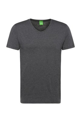 Slim-fit T-shirt in soft single jersey, Grey