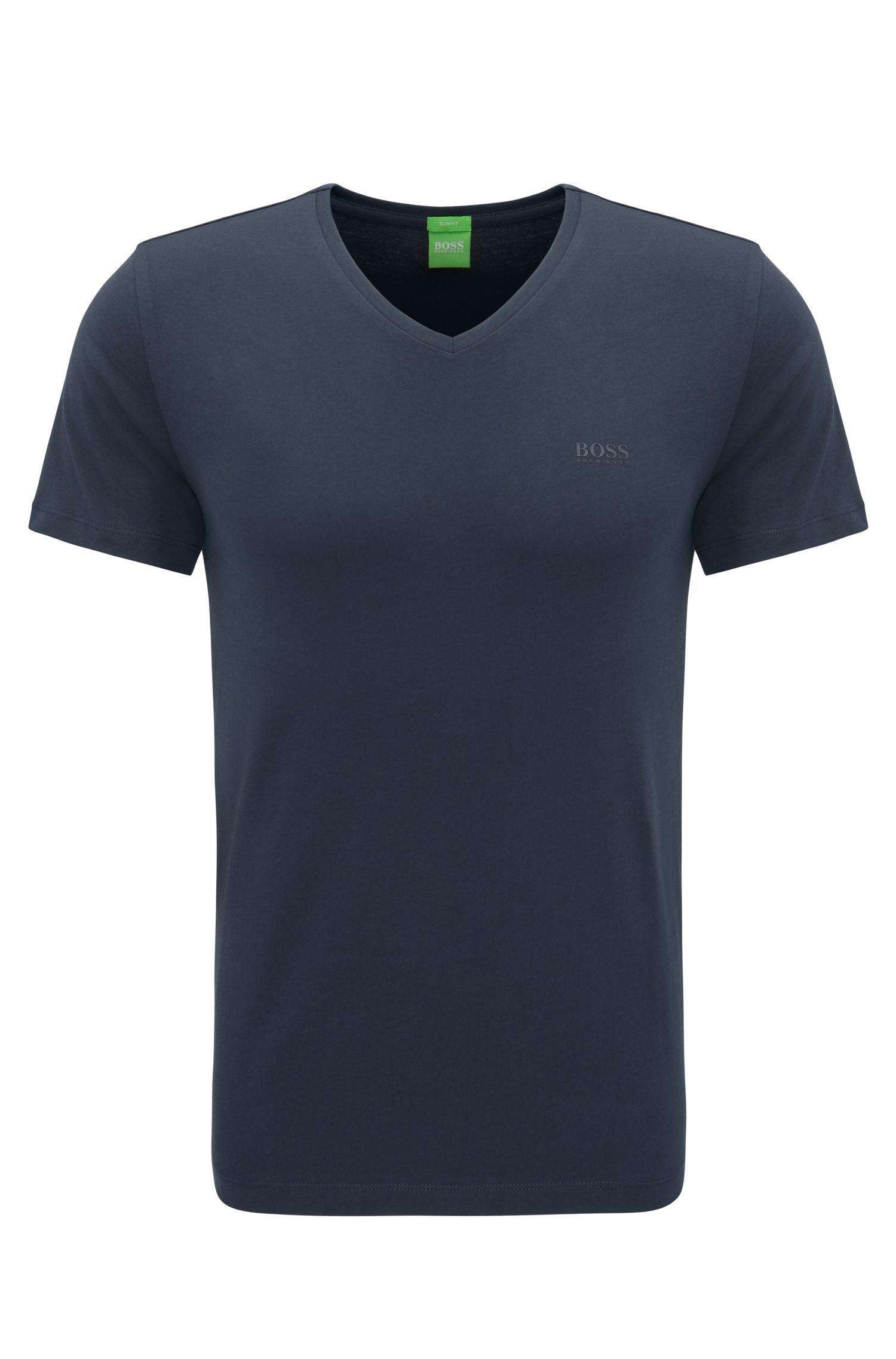 Camiseta slim fit en punto sencillo y suave