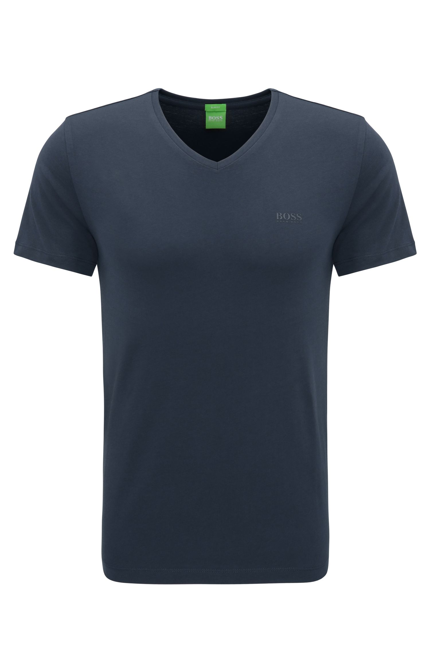 T-shirt Slim Fit en doux jersey simple
