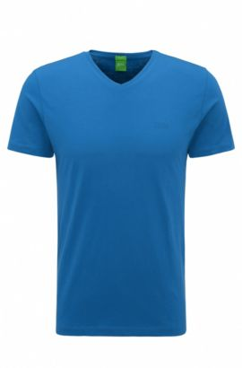 T-shirt Slim Fit en doux jersey simple, Bleu vif
