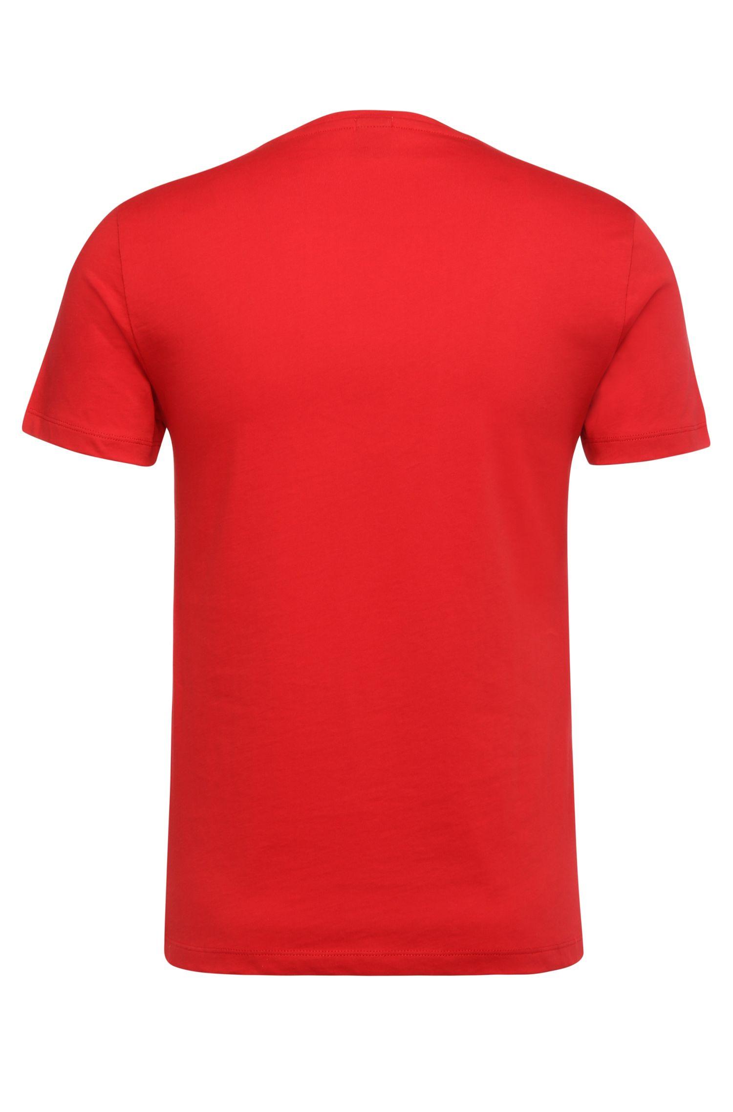 T-shirt Slim Fit en doux jersey simple, Rouge