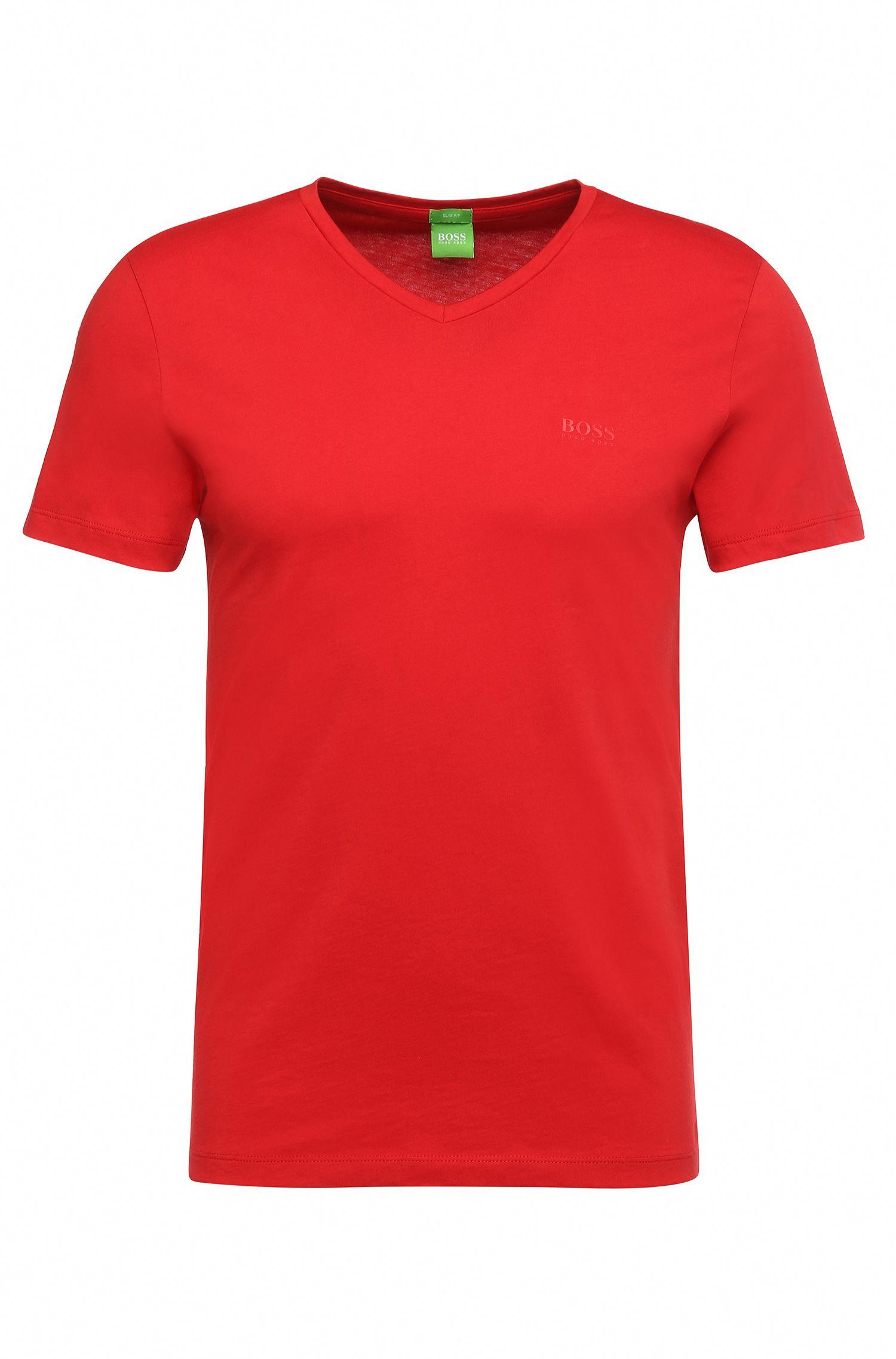 T-shirt Slim Fit en doux jersey simple