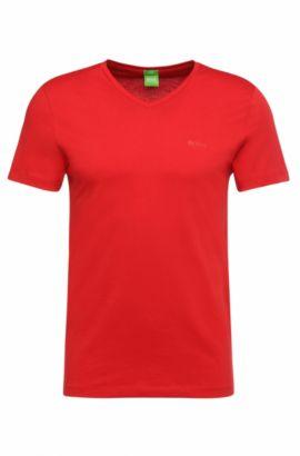 Camiseta slim fit en punto sencillo y suave, Rojo