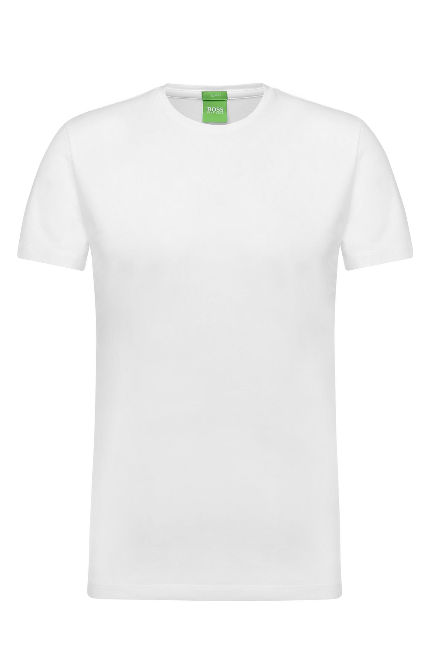 Pure cotton t-shirt: 'C-Lecco', White