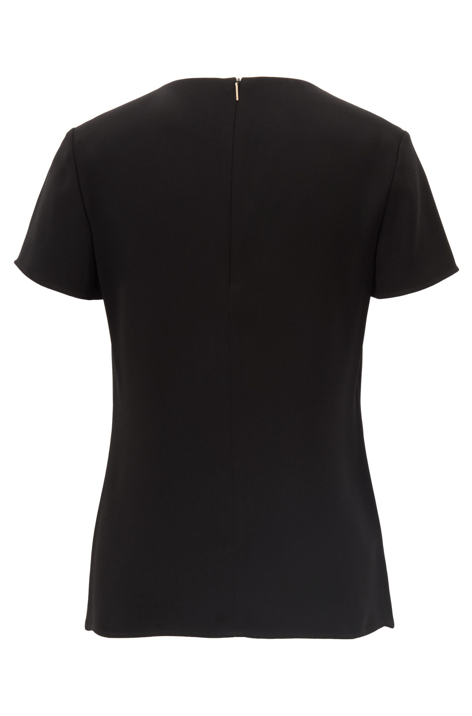 Gently tailored crepe top , Black