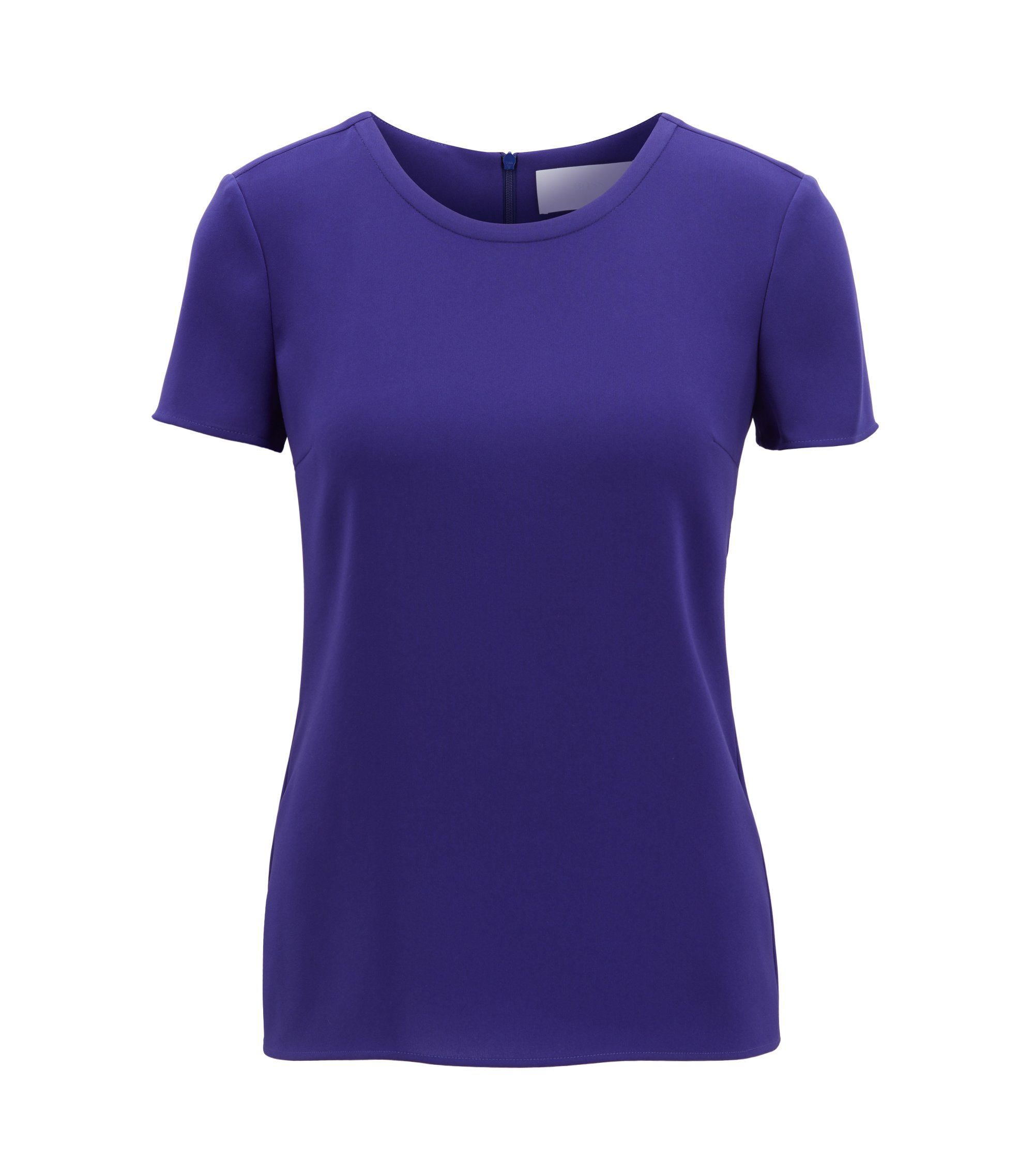 Gently tailored crepe top , Open Purple
