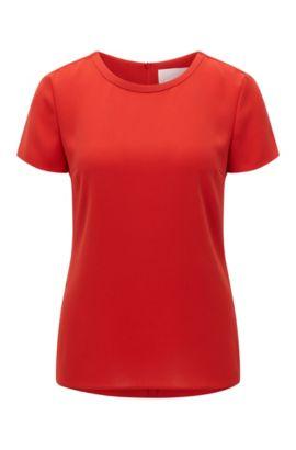 Top in crêpe delicatamente sartoriale della collezione Fundamentals BOSS Donna, Rosso