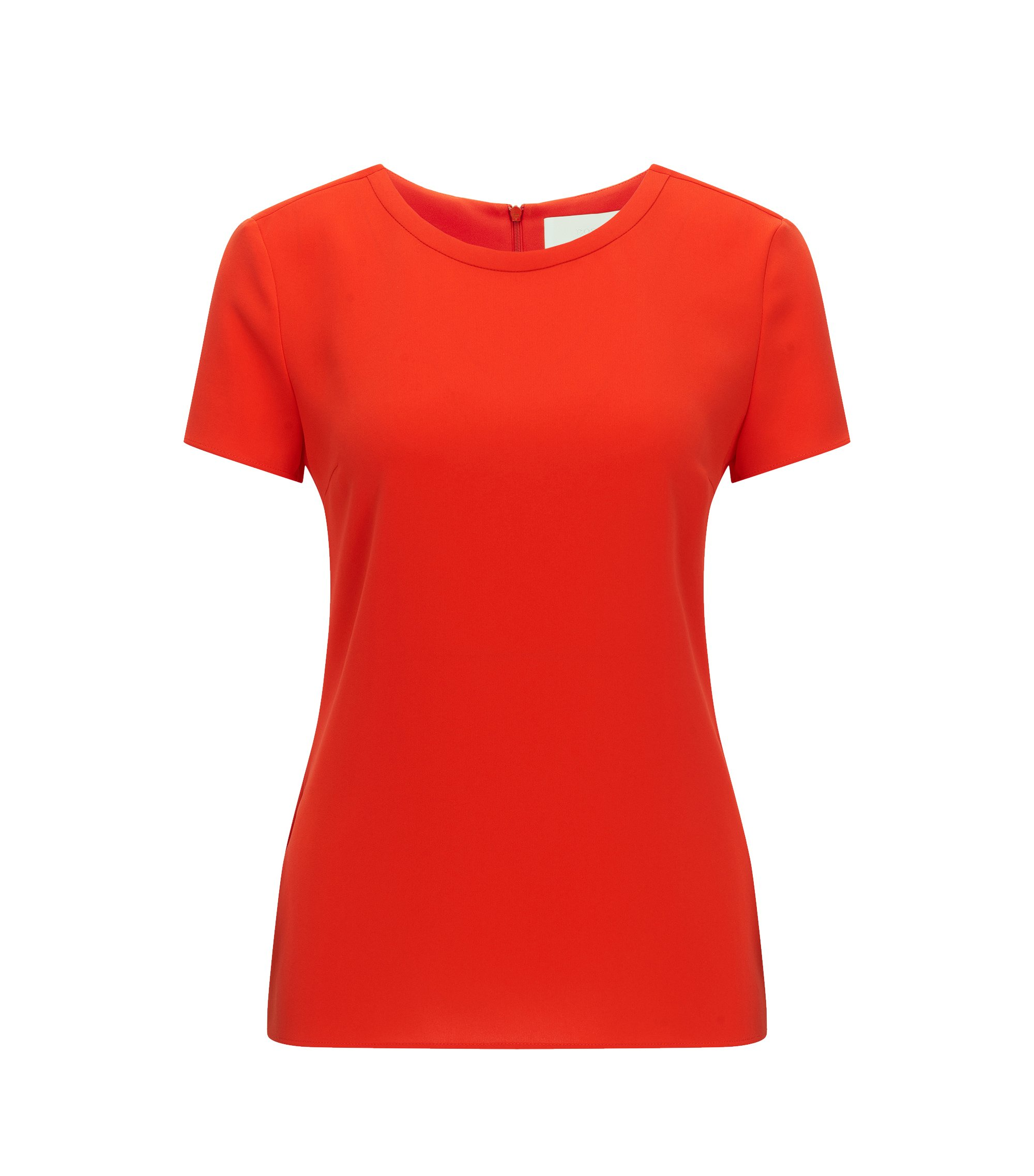 Gently tailored crepe top , Red