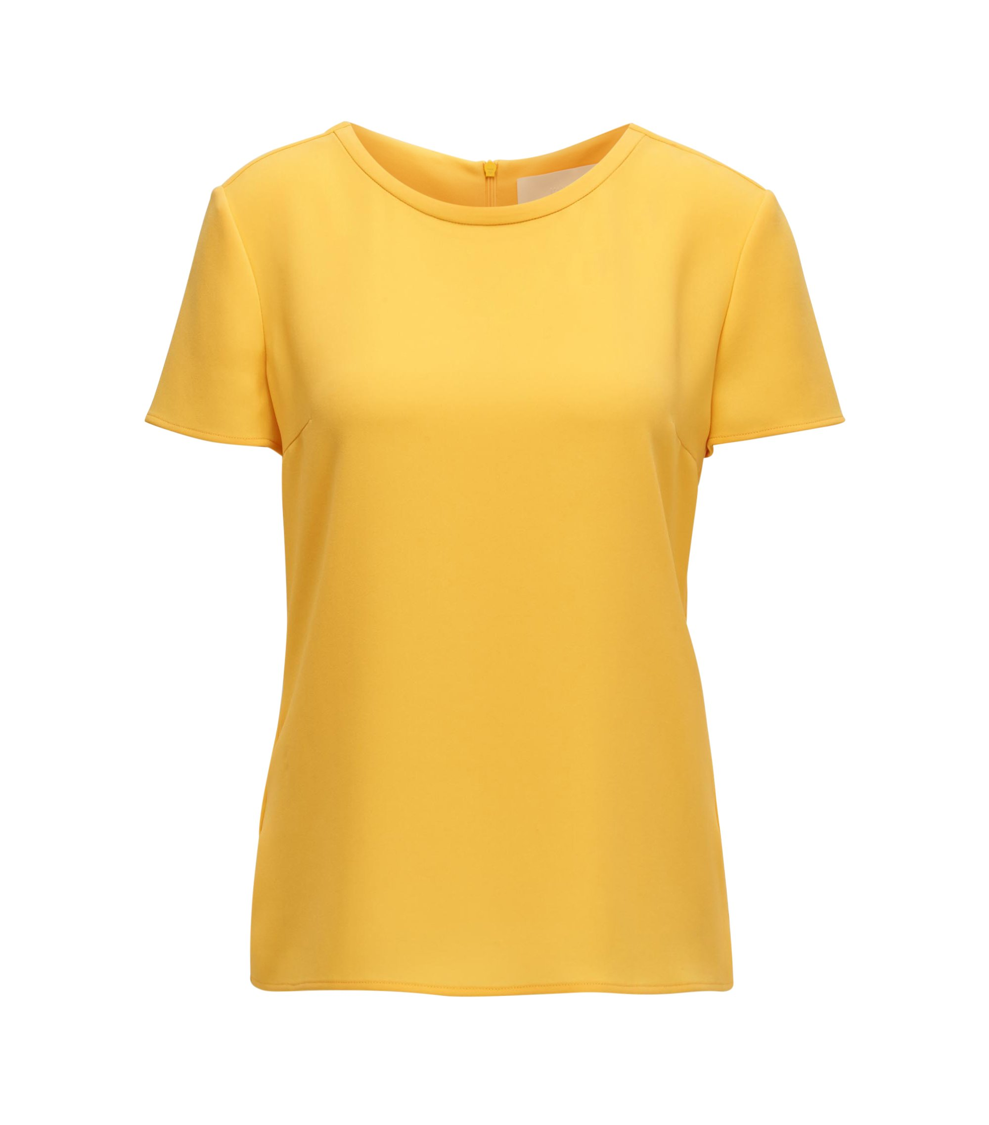 Gently tailored crepe top , Yellow