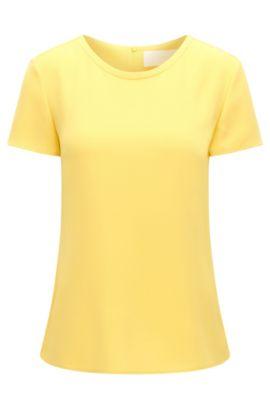 Weich fallendes Krepp-Top von BOSS Womenswear Fundamentals, Gelb