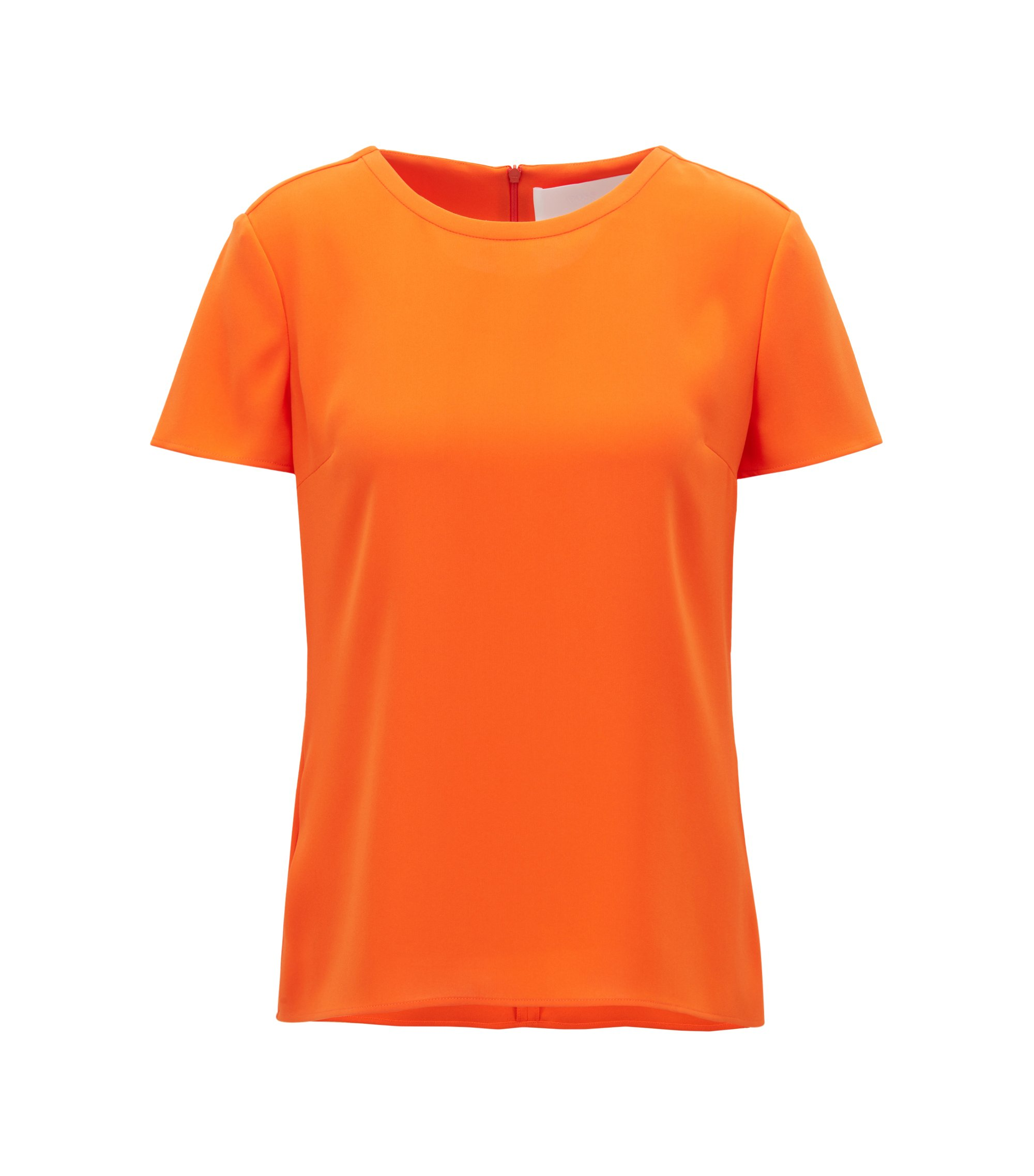 Gently tailored crepe top , Orange