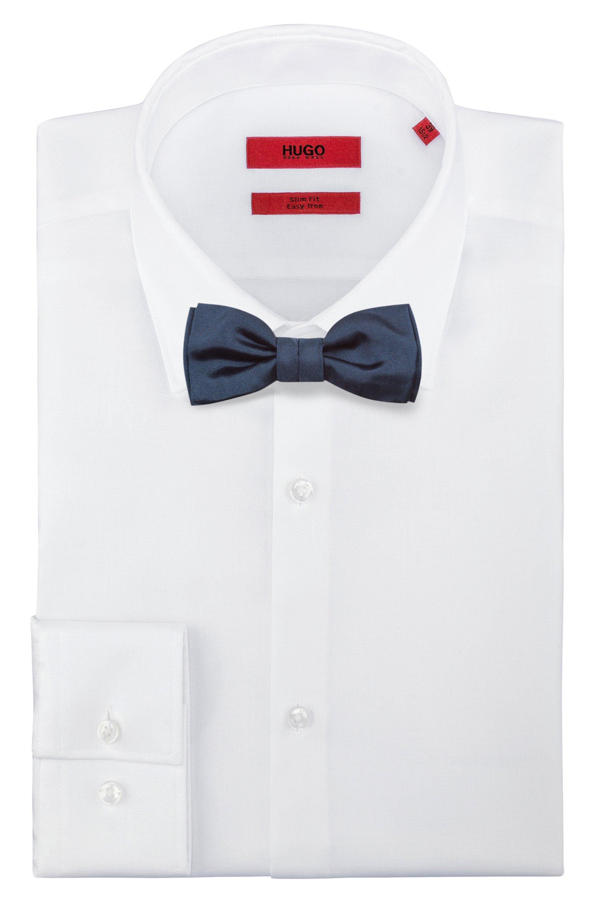 Satin bow tie in silk jacquard