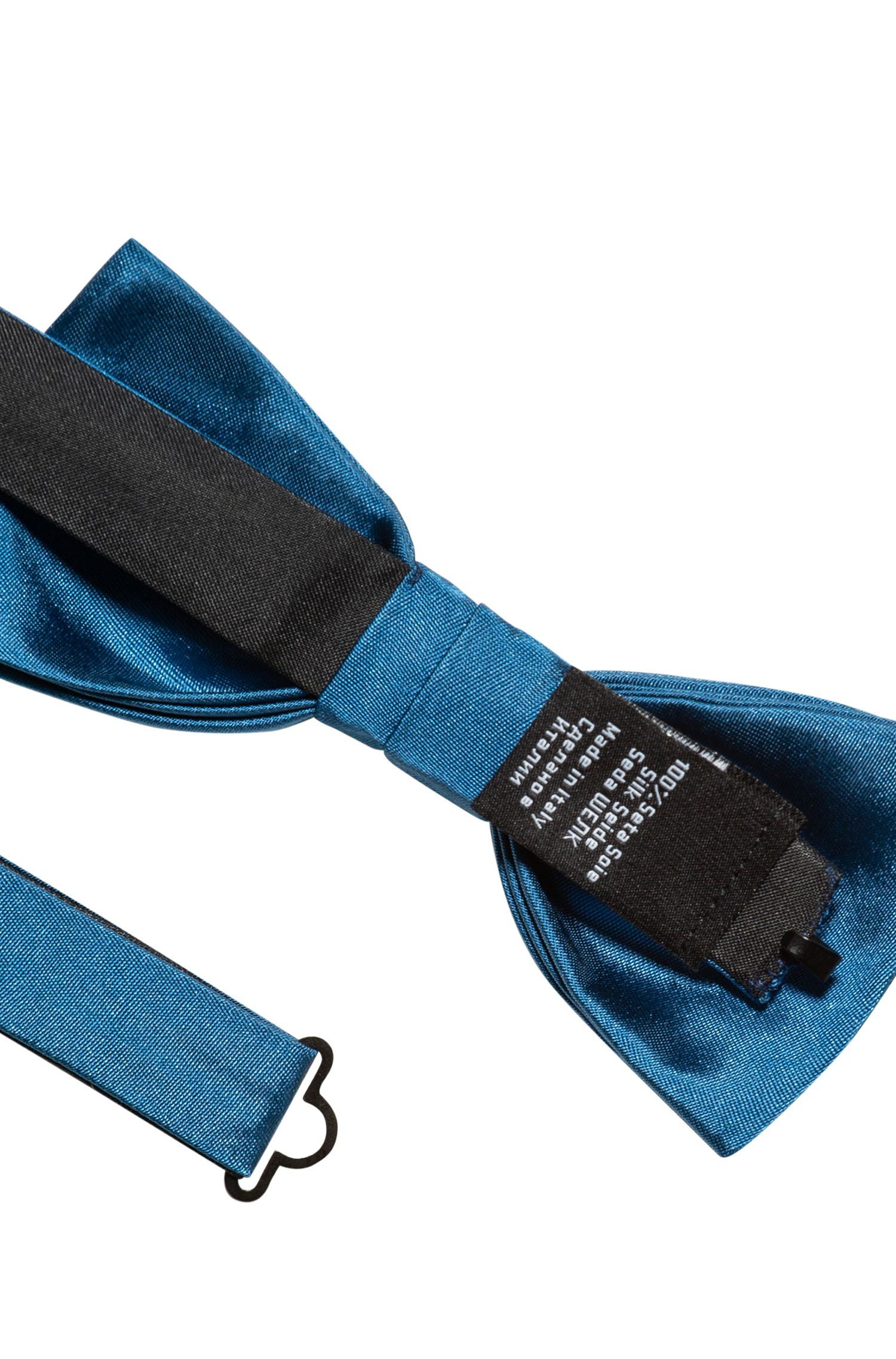 Jacquard-Fliege aus reiner Seide , Blau
