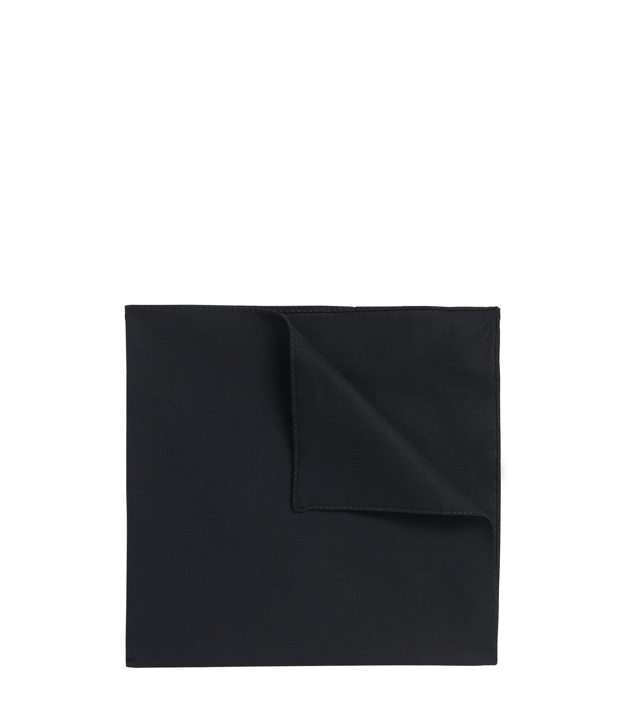 Pochette da taschino in popeline di cotone , Nero