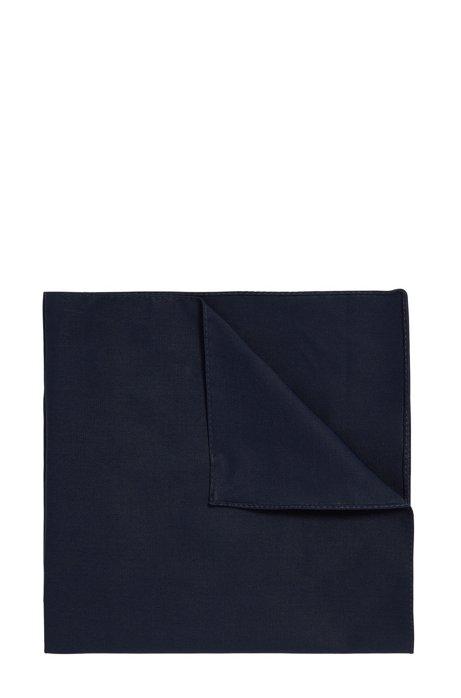 Pochette en popeline de coton, Bleu foncé