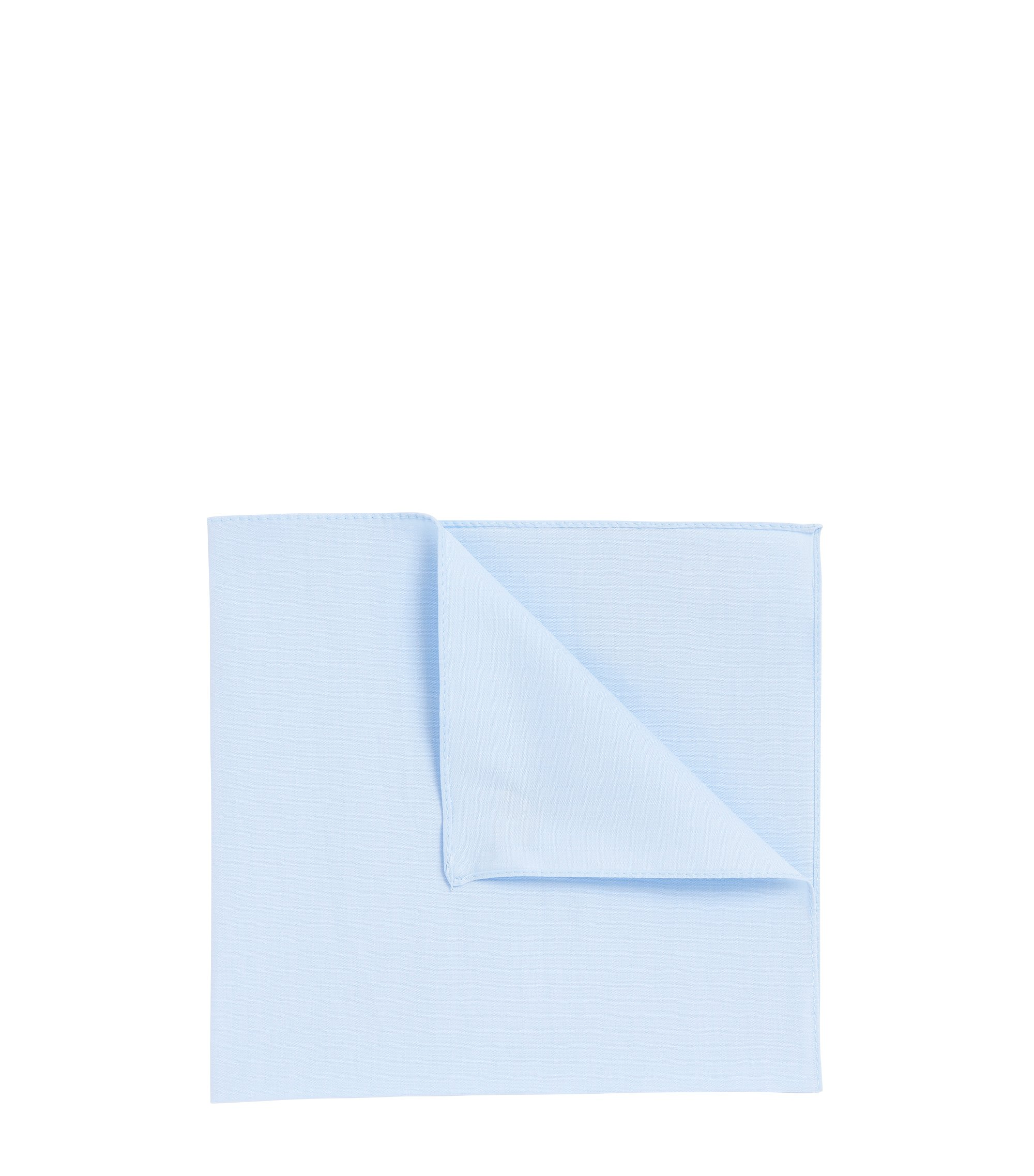 Cotton poplin pocket square , Light Blue