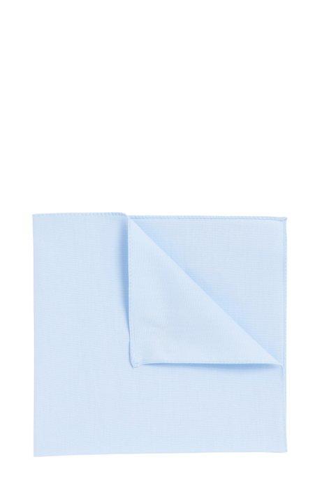 Einstecktuch aus Baumwoll-Popeline , Hellblau