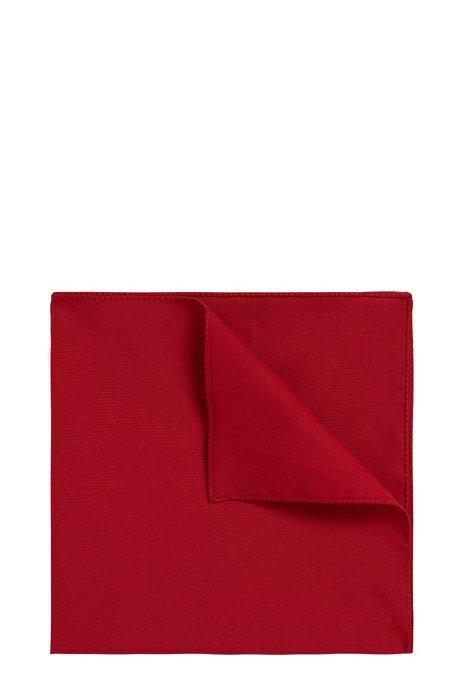 Pochette en popeline de coton, Rouge sombre