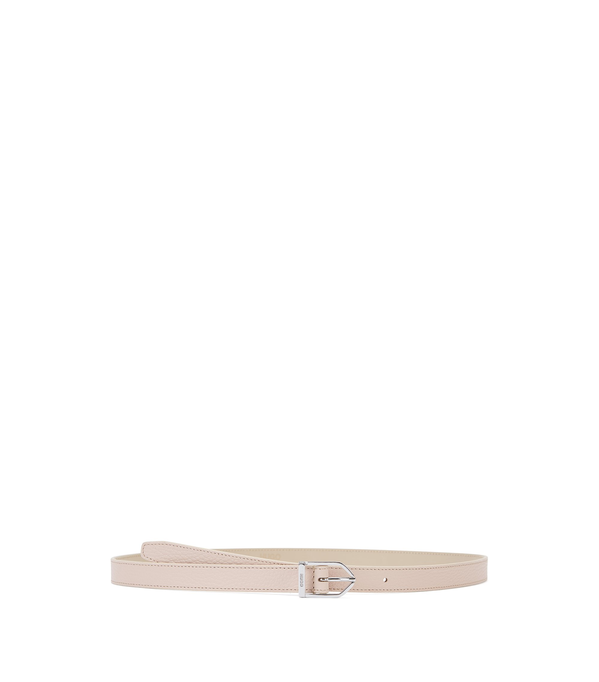 Feminine belt in premium Italian leather, Beige