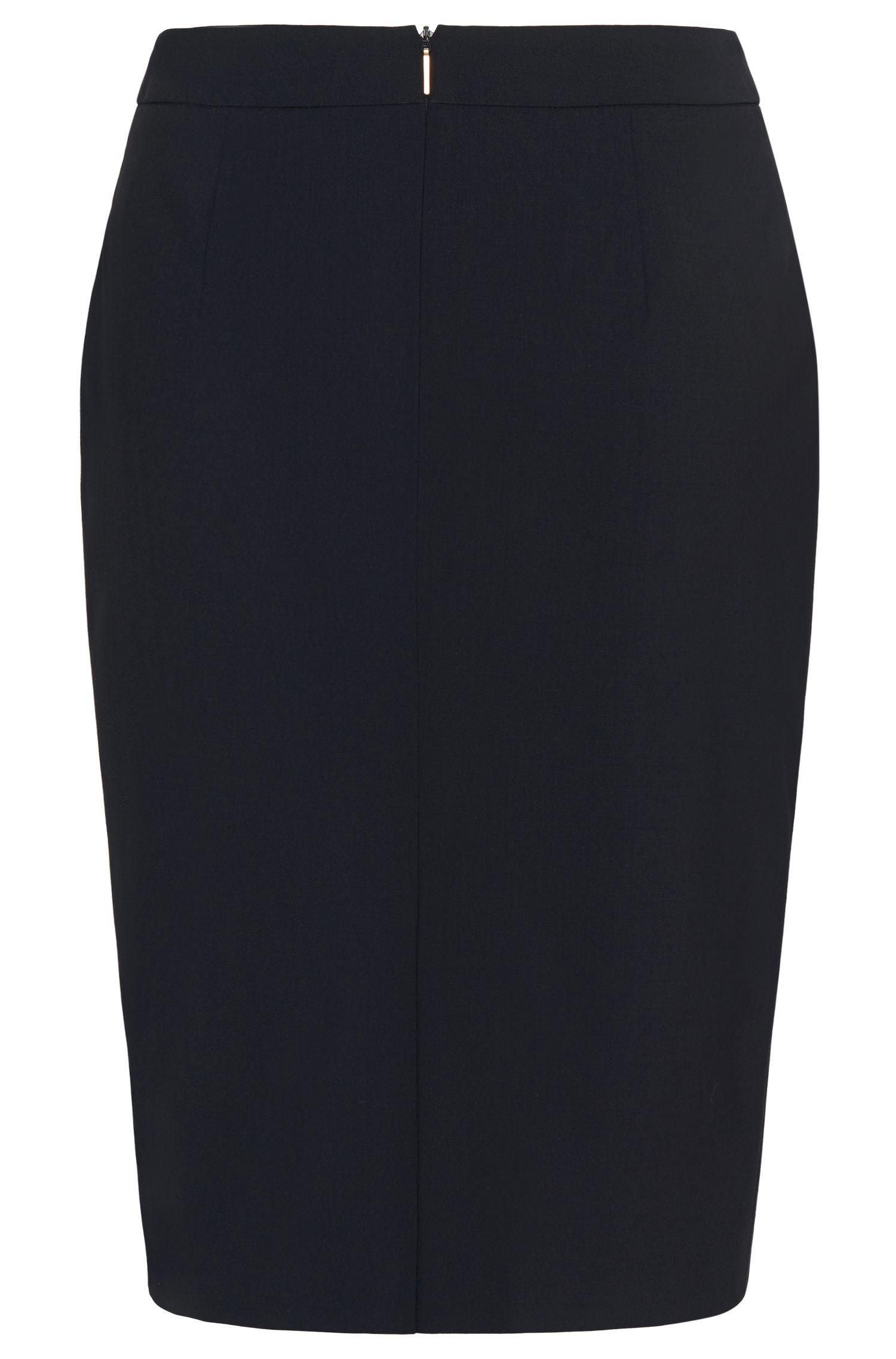 Slim-Fit Bleistiftrock aus Stretch-Schurwolle