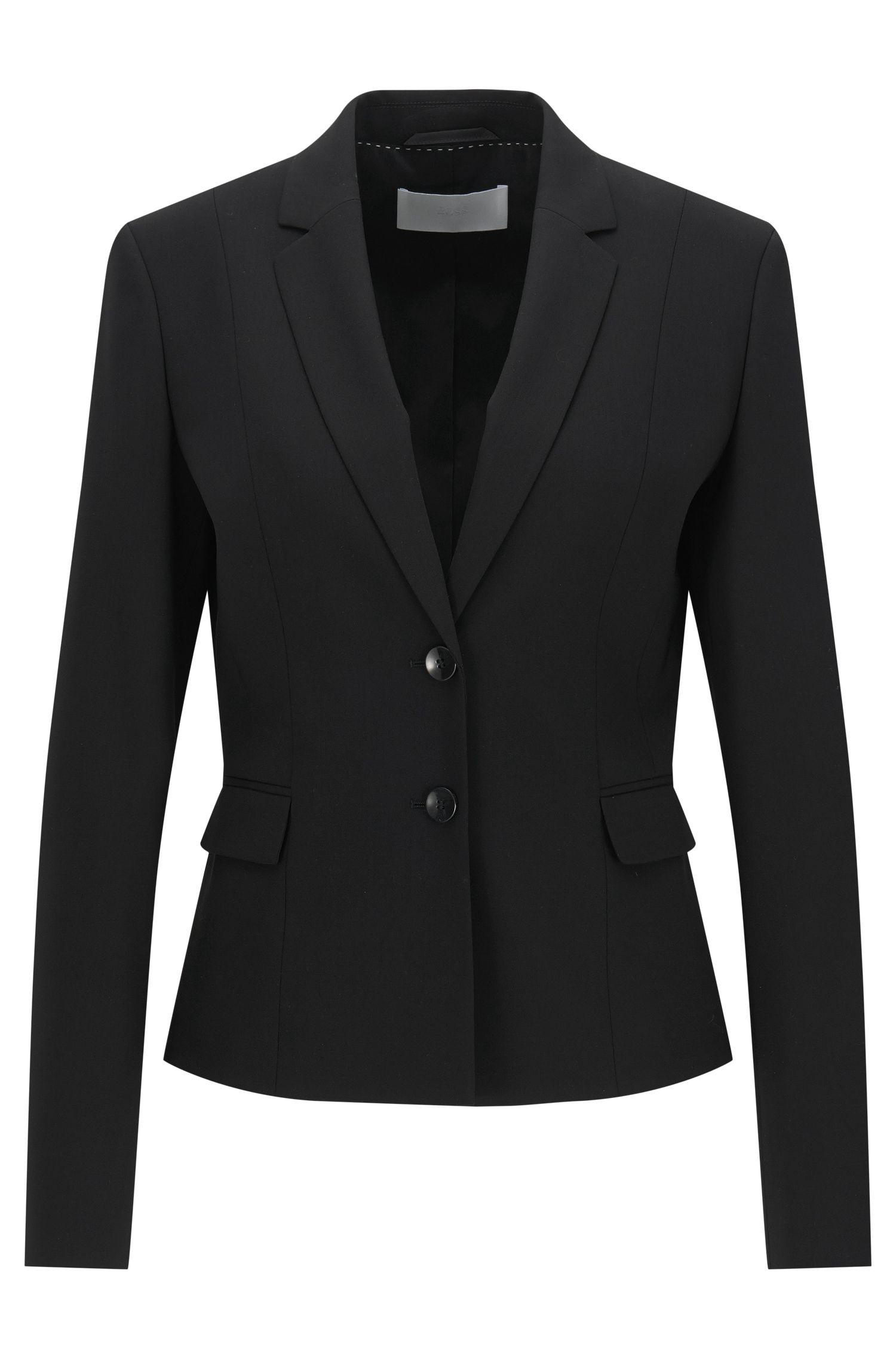 Schurwoll-Blazer in Cropped-Länge von BOSS Womenswear Fundamentals