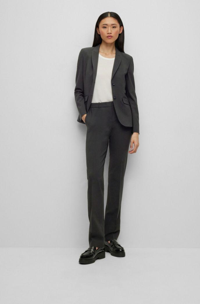 Regular-fit blazer van Italiaanse scheerwol met stretch