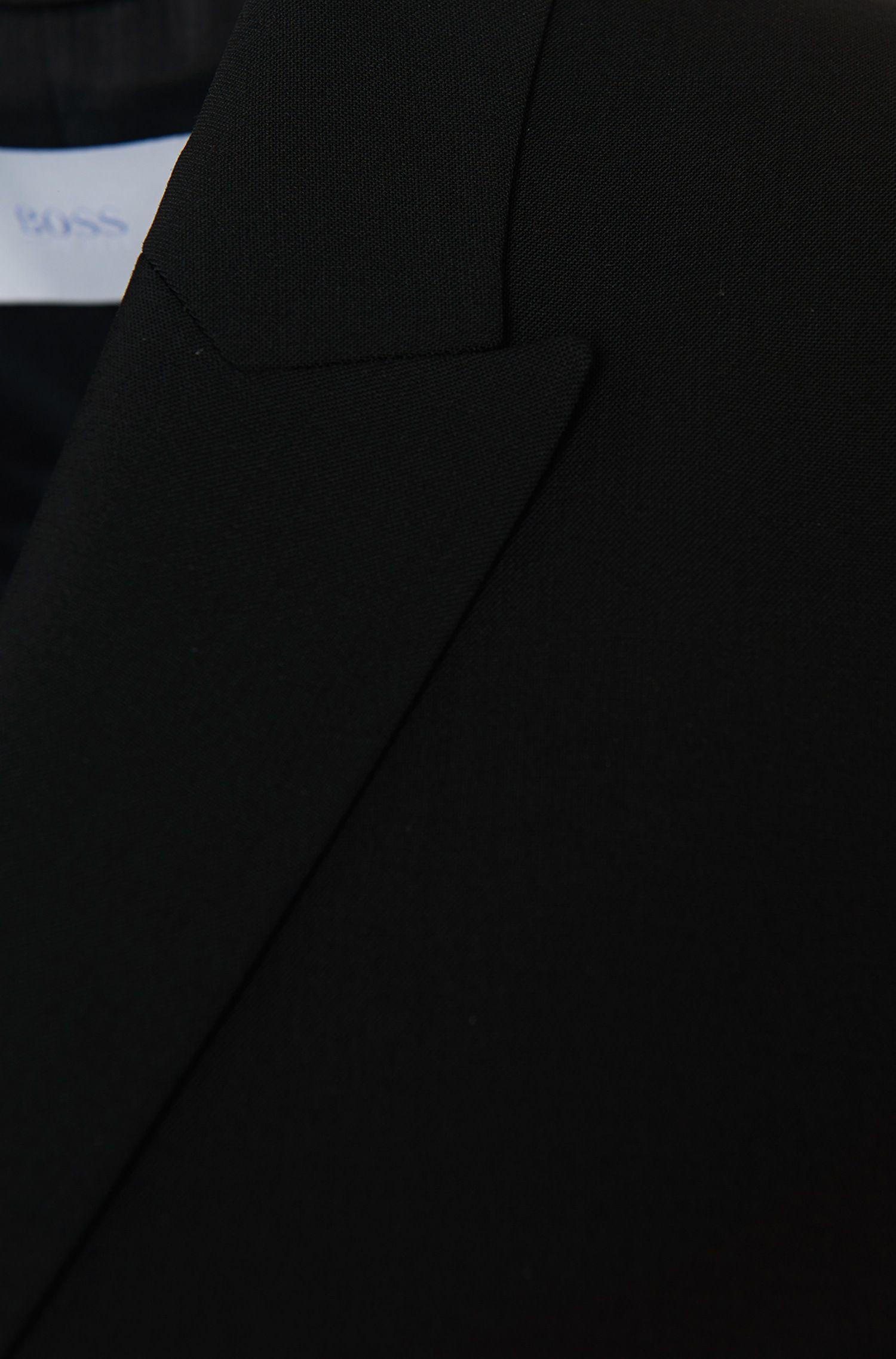 Schurwoll-Blazer mit steigendem Revers