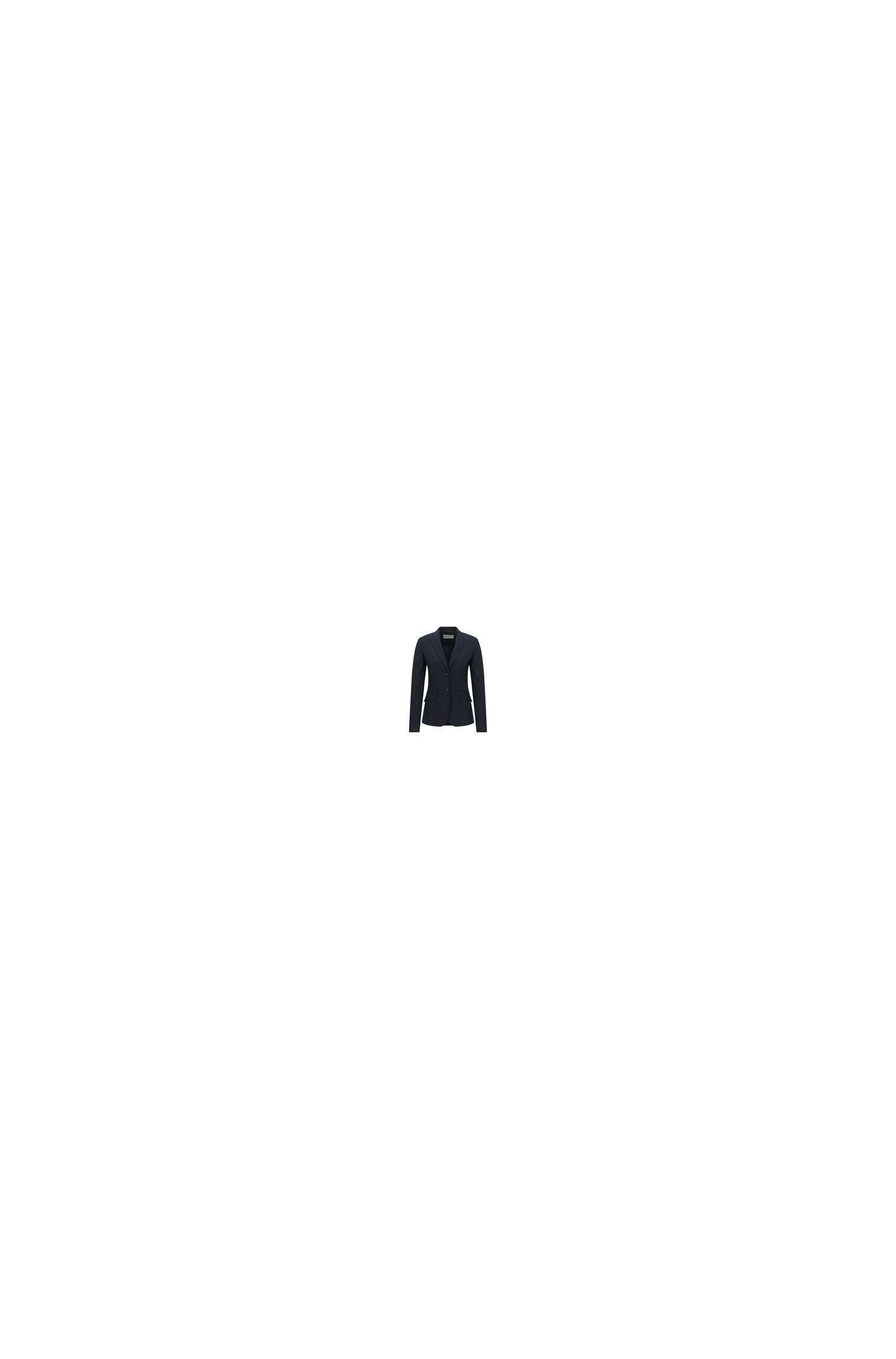 Stretch wool blazer with peak lapels