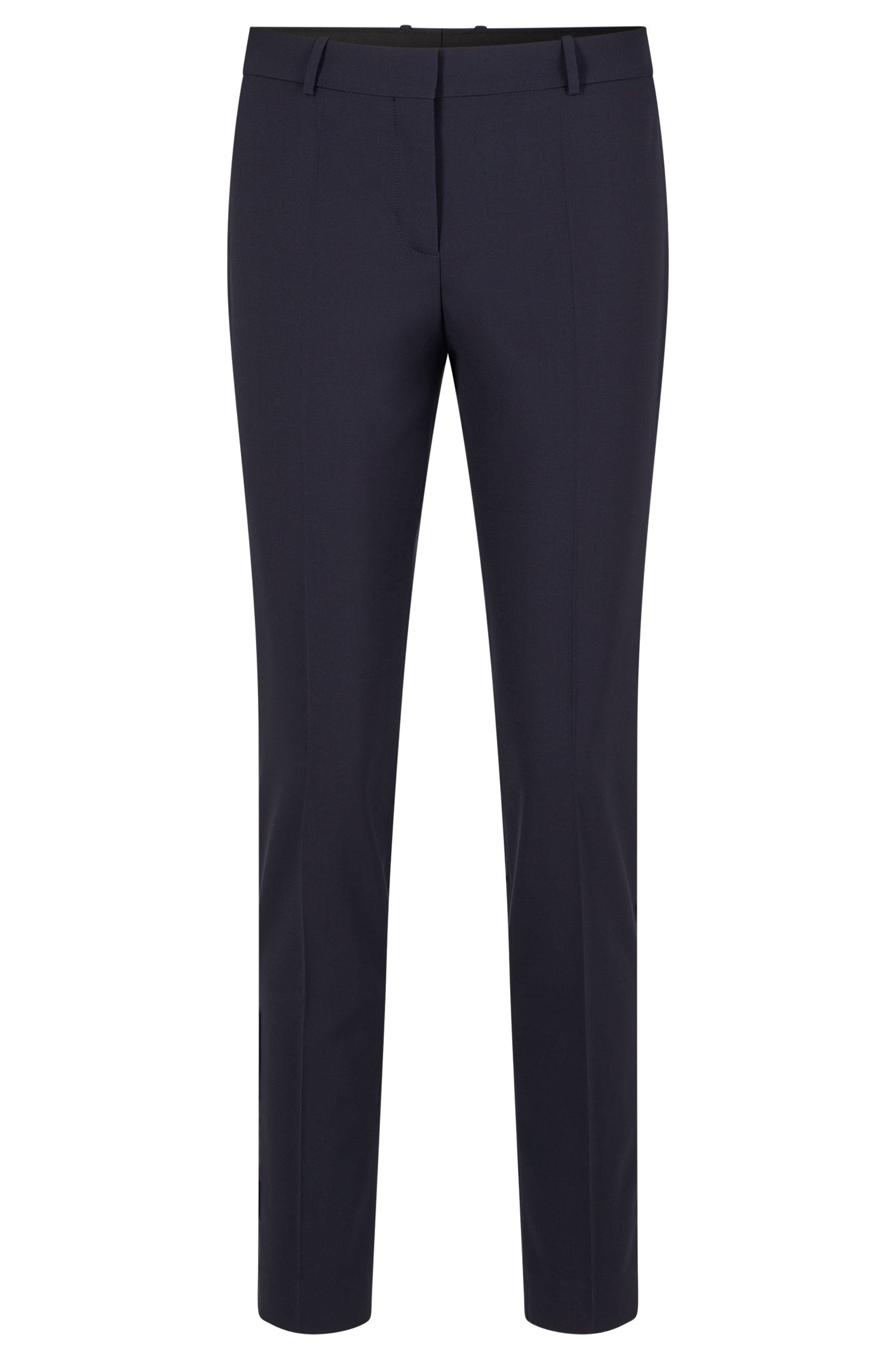 Slim-Fit Hose in Cropped-Länge, Dunkelblau