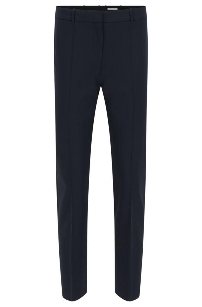 Pantalones tobilleros regular fit en lana virgen italiana con elástico