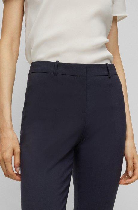 Slim-fit cropped trousers, Dark Blue