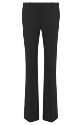Pantalon coupe bootcut avec détail en métal, Noir
