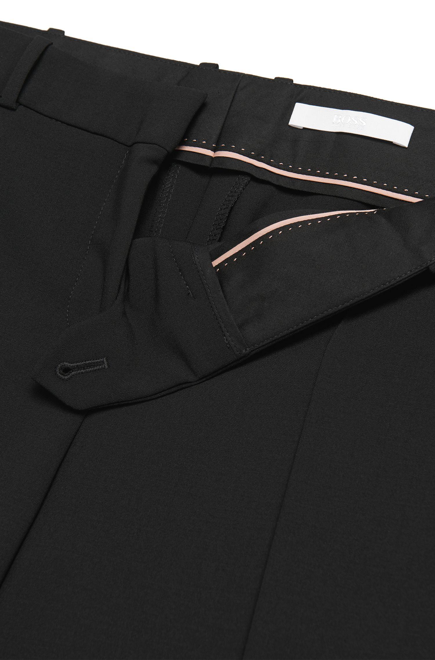 Pantalon coupe bootcut avec détail en métal