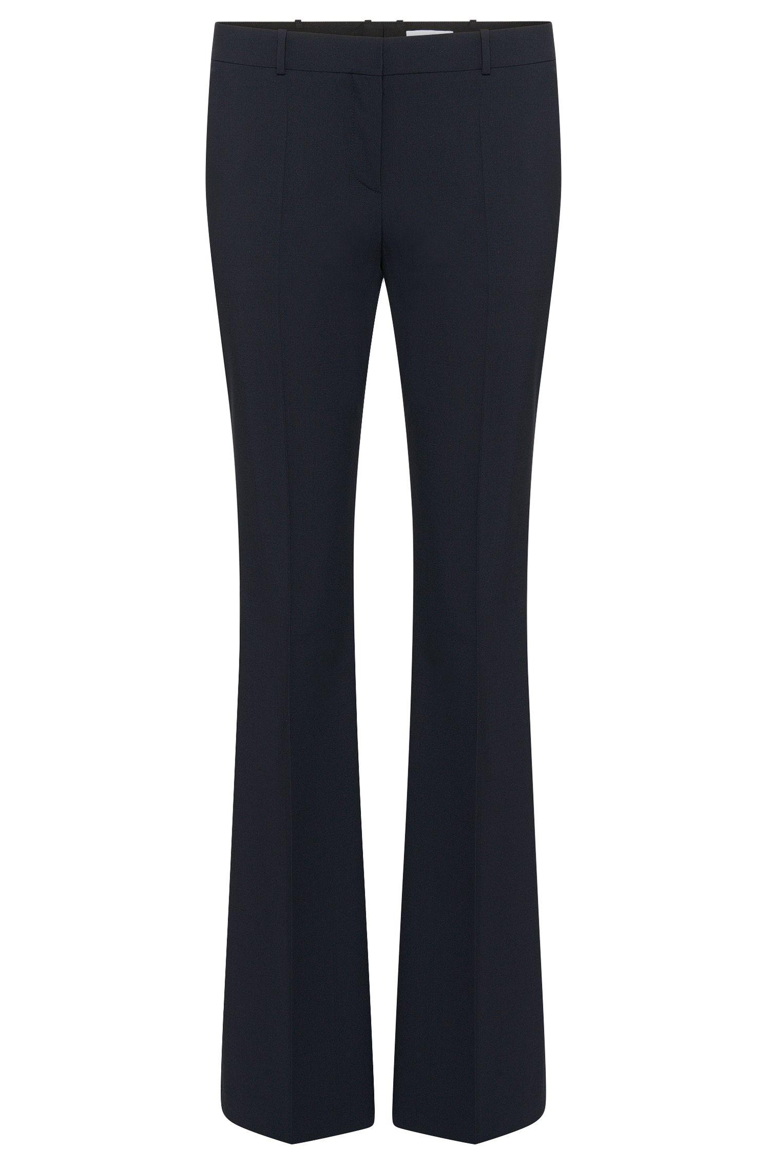 Pantalon coupe bootcut BOSS Femme Fundamentals avec détail en métal